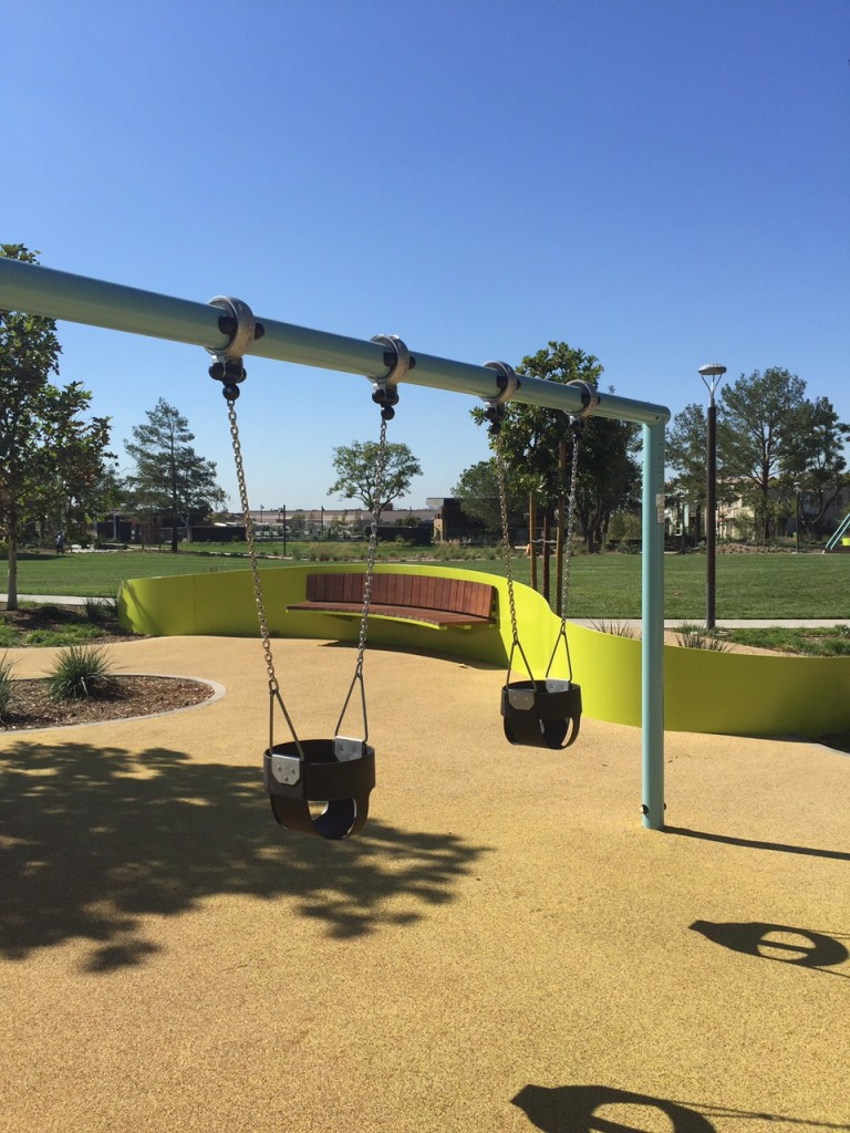 Swings at Beacon Park in Irvine