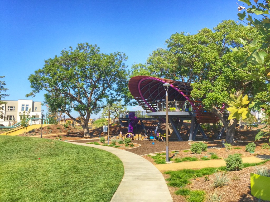 Tree House Park at Beacon Park in Irvine in Orange County