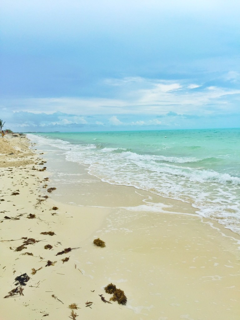 Beautiful white sandy beaches in the Turks and Caicos