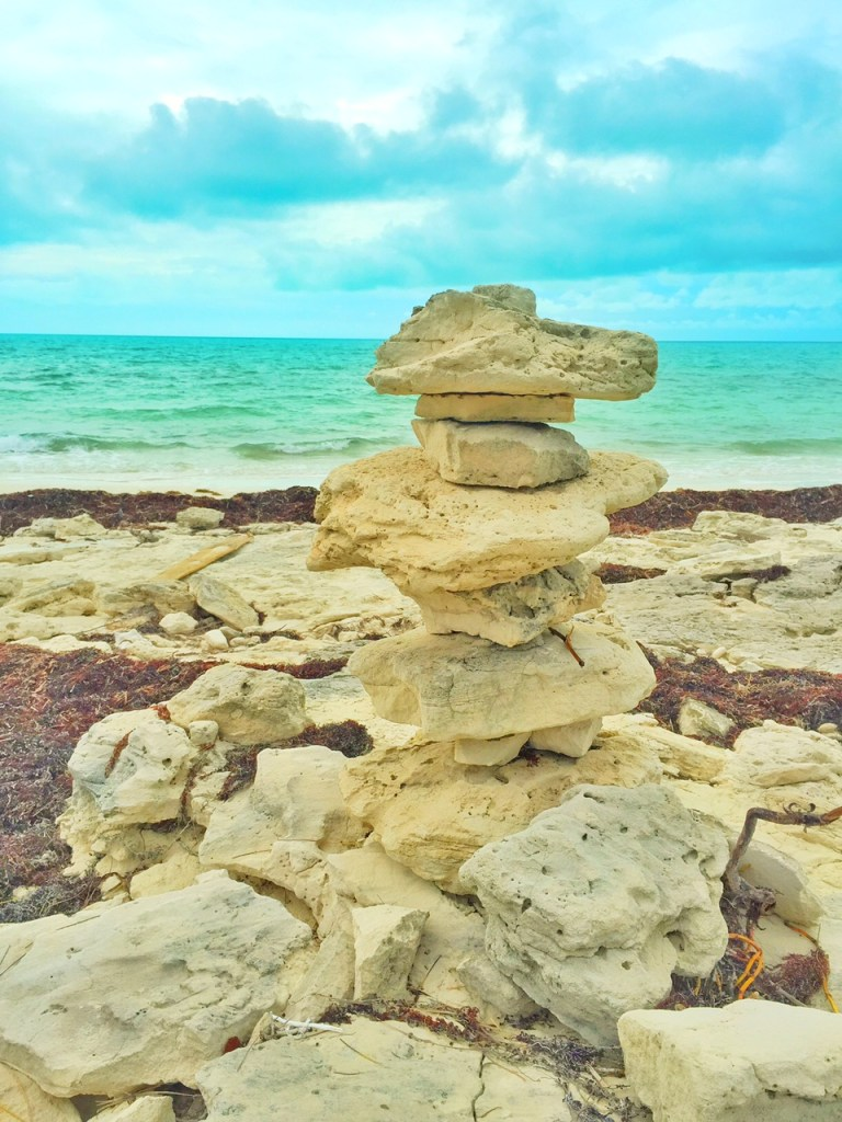 Rock at at Long Bay Beach in the Turks and Caicos