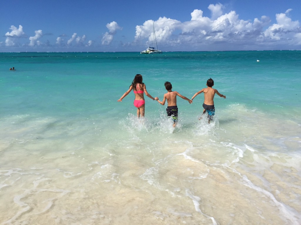 Kids splashing in the waters at Beaches Turks and Caicos