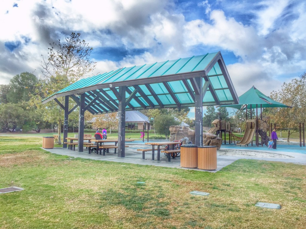 Covered Picnic Tables at University Community Park