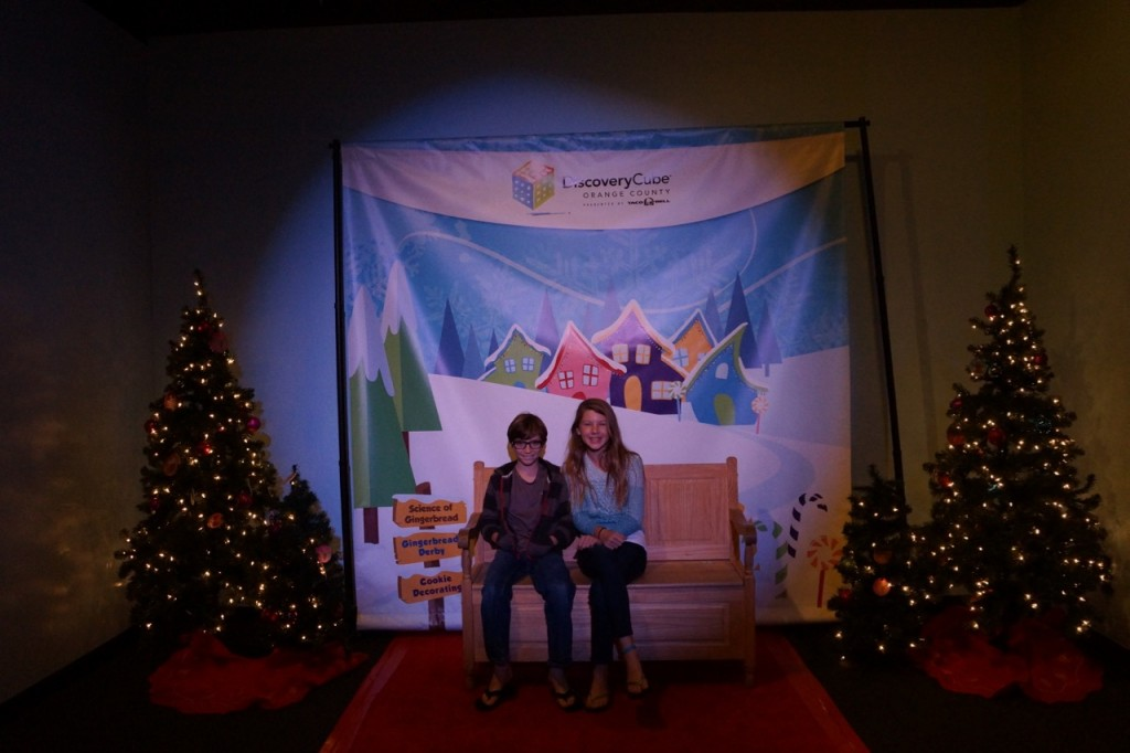 Kid fun at the Science of gingerbread at Discovery Cube OC