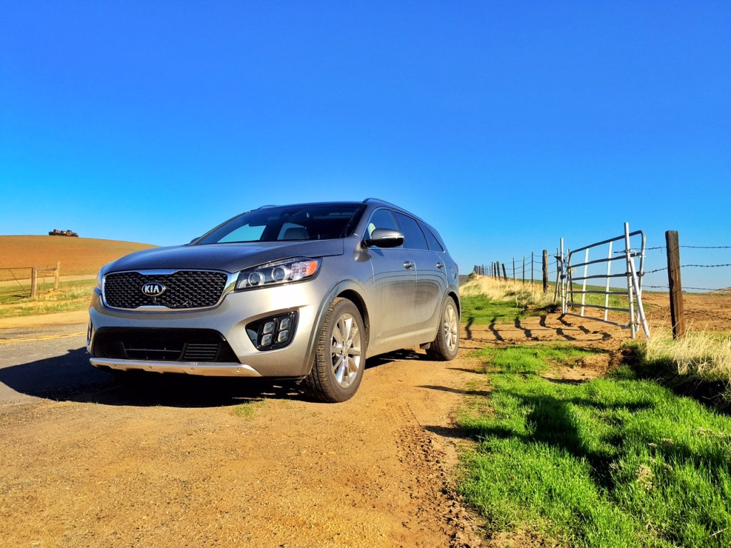 Kia Sorento on the Farm