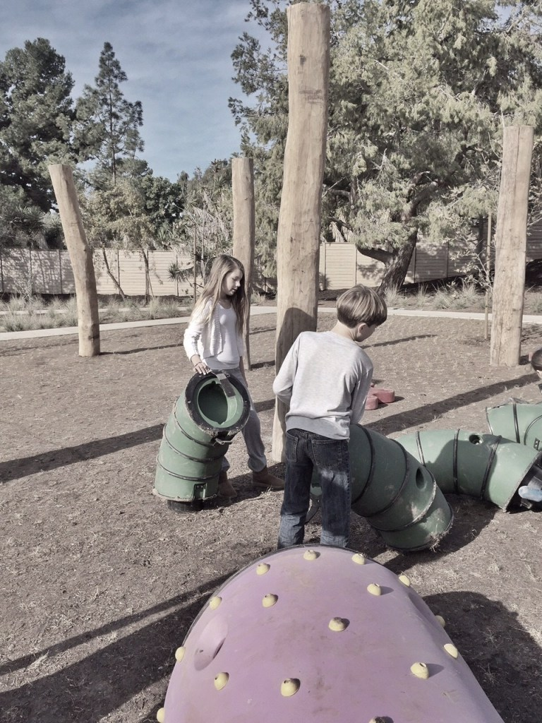 Kids Building at Orange County Park in Irvine