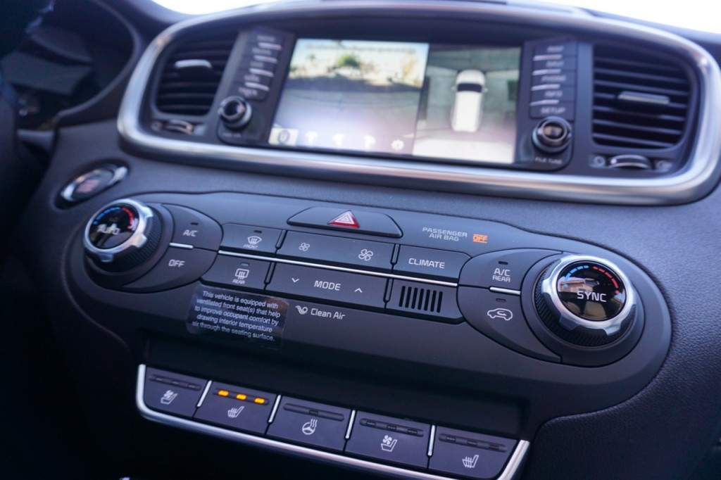 The Dashboard on the 2016 Sorento