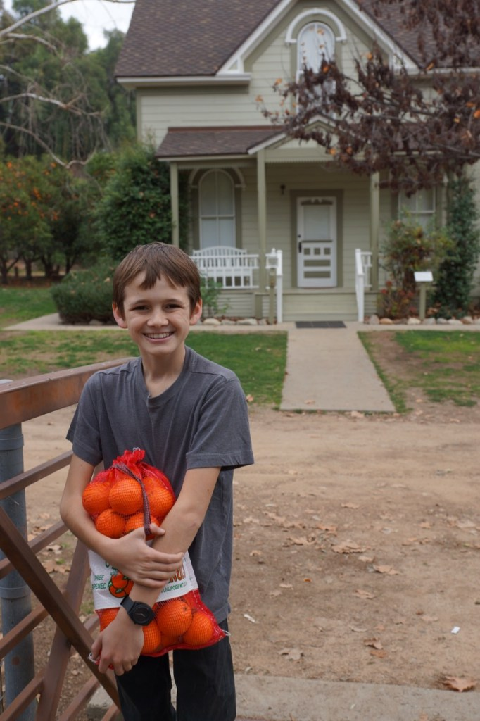 Andrew in front of the Weber House in La Verne