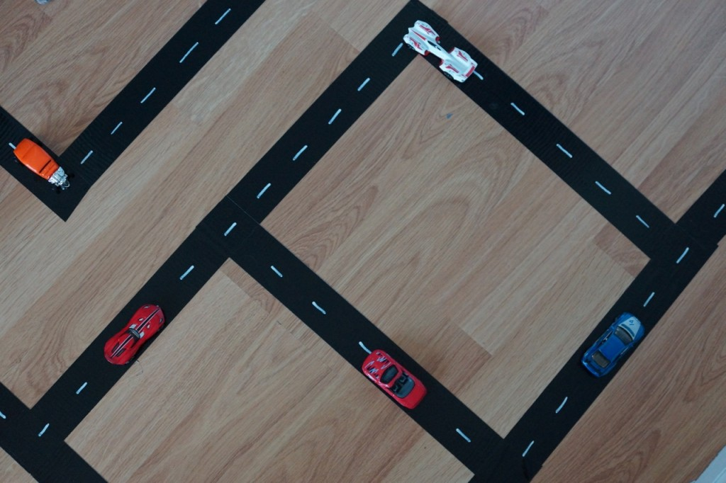 DIY Hot Wheels Track with Duck Tape