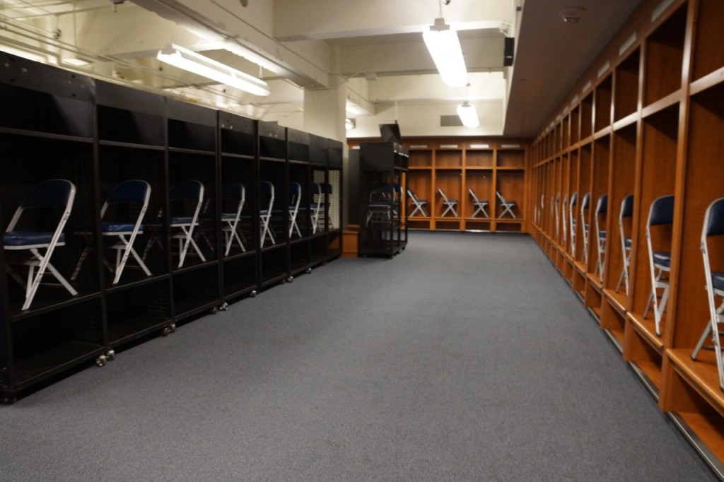 Detroit Lions locker room