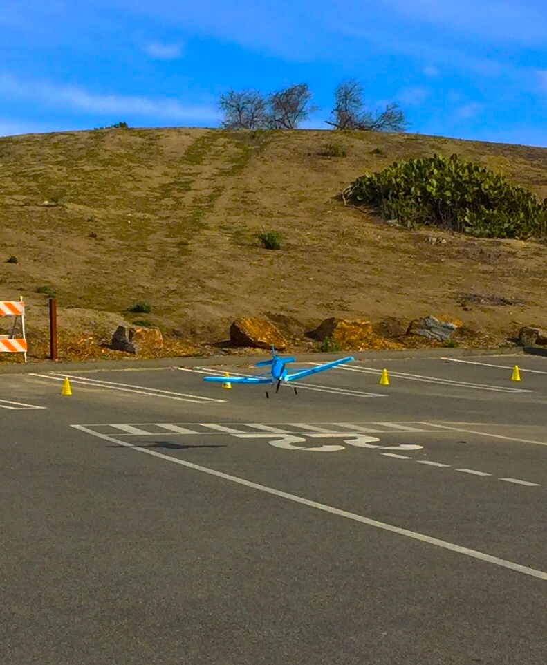 Flying Toy Airplanes at Kite Hill