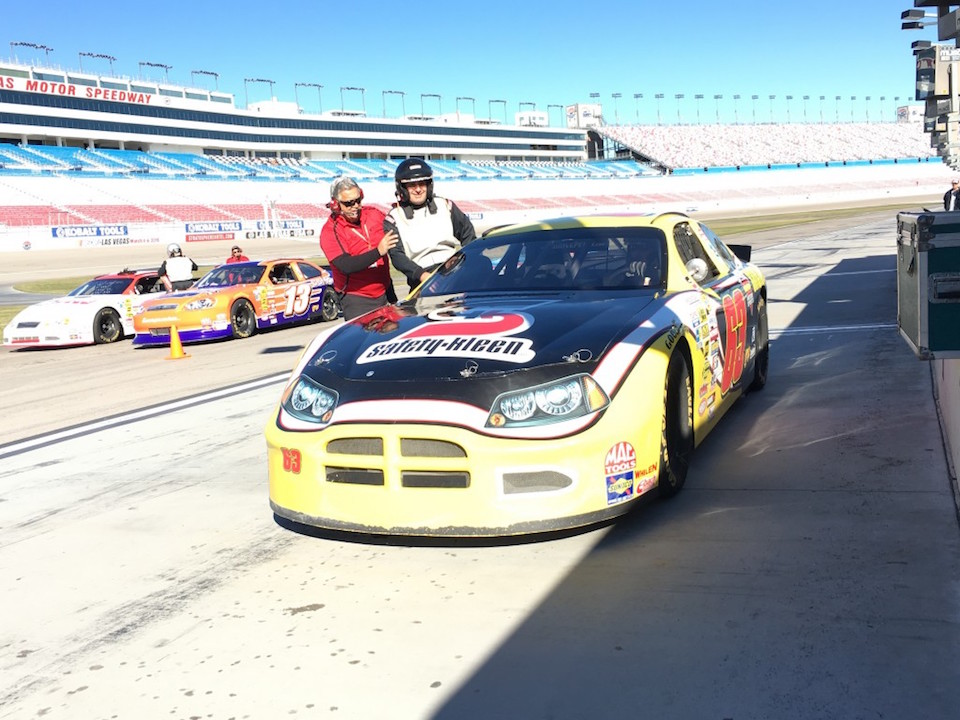 Getting Ready to Ride in a car at Drive Petty
