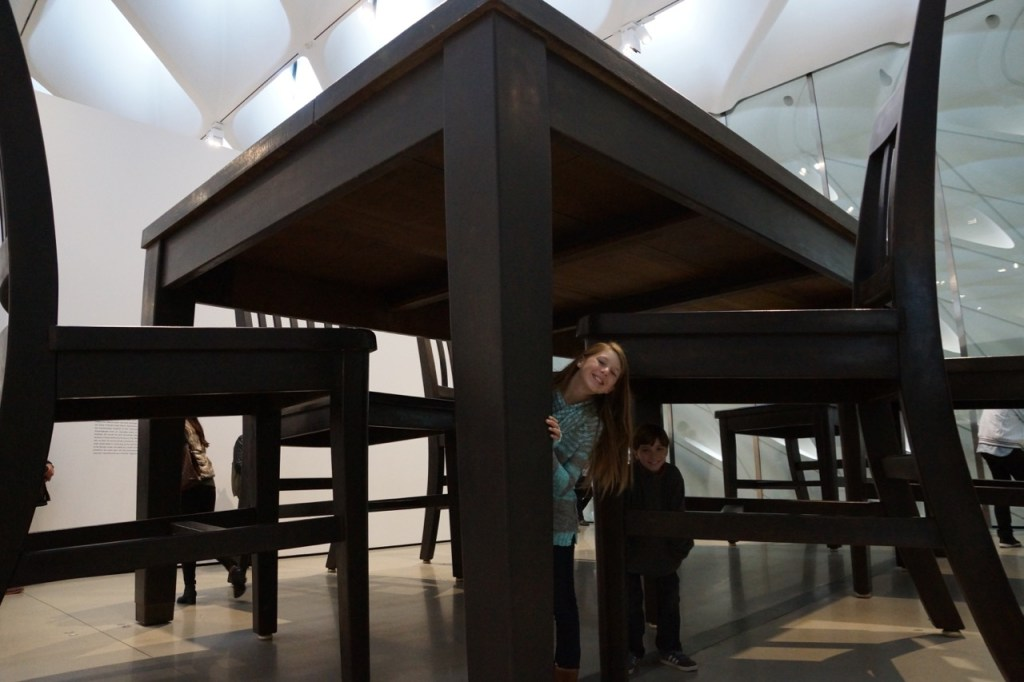 Giant table at The Broad