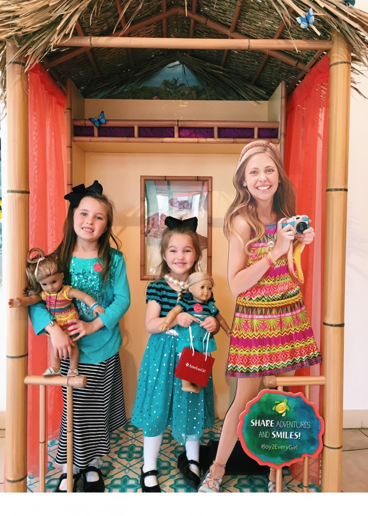 Excited to be shopping at the American Girl Doll store in Los Angeles
