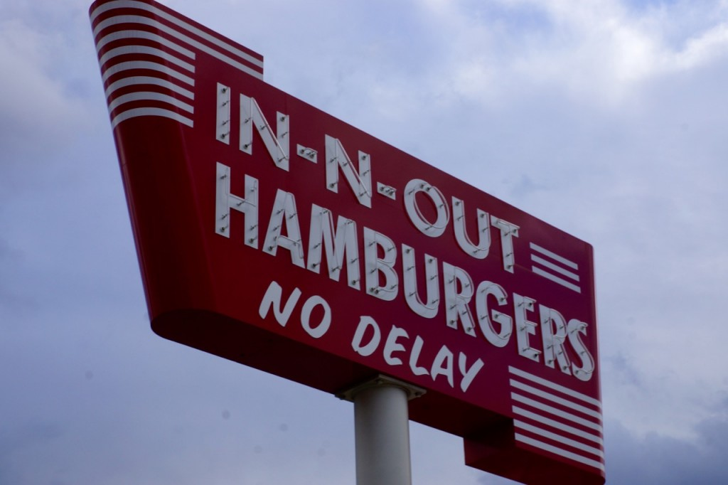 In-n-out throwback sign
