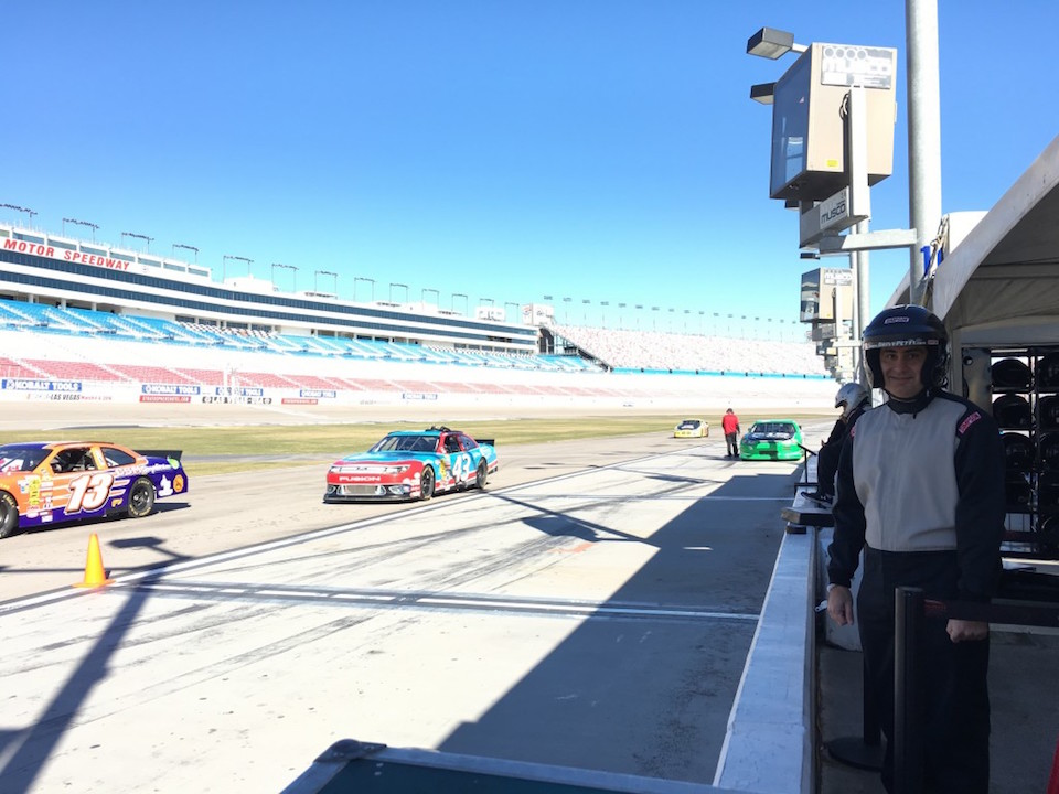 OC Dad getting ready to ride in a real Nascar car