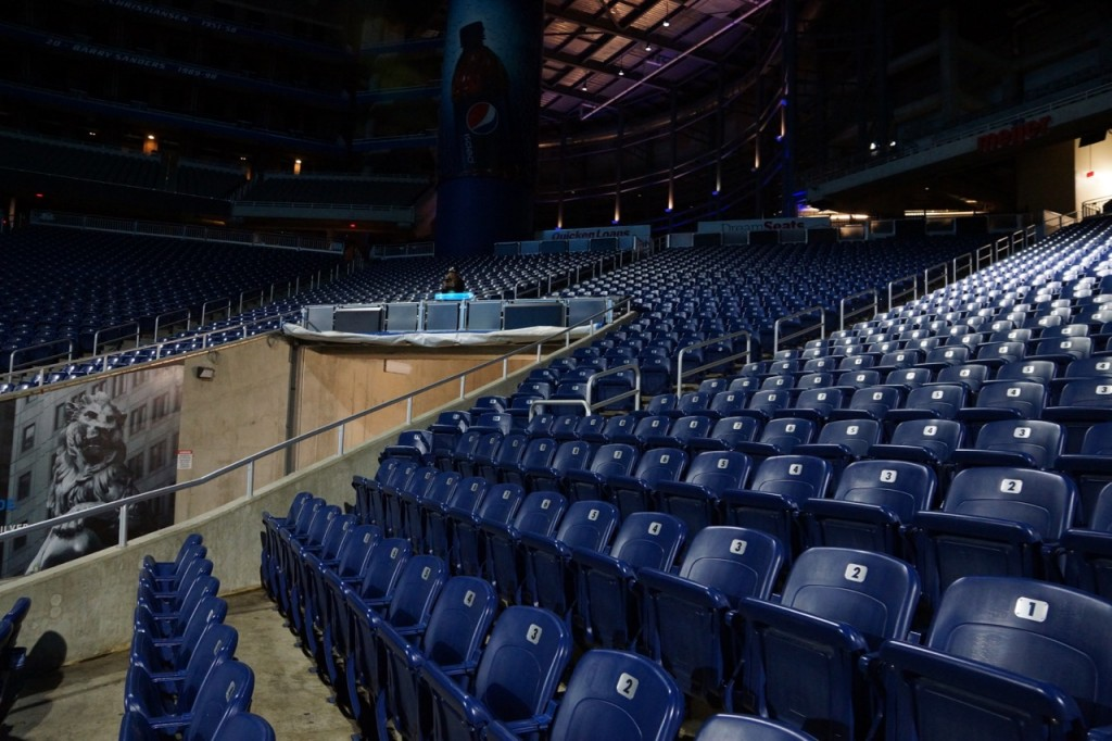 Stadium chairs at Ford Field