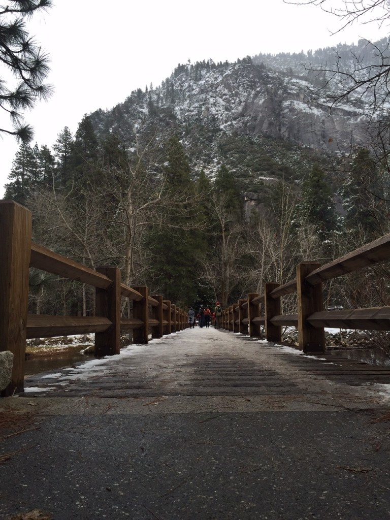 Swinging Bridge in Yosemite