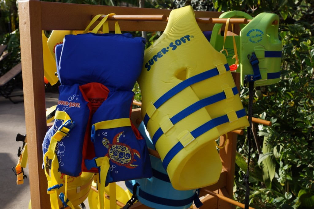 Complimentary Life Vests at Animal Kingdom Lodge