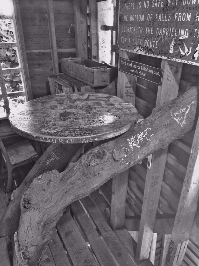 Table in treehouse