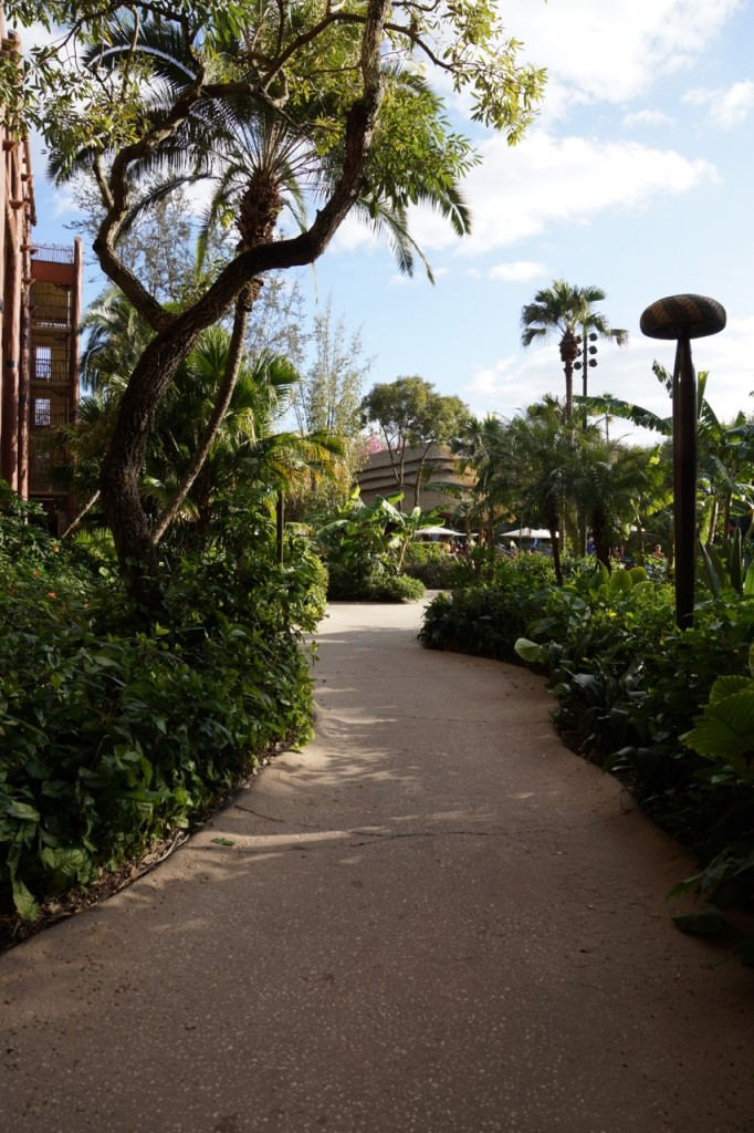 Walkway at Animal Kingdom Lodge