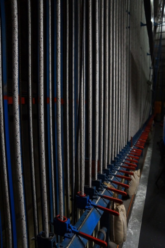 cables backstage at Segerstrom