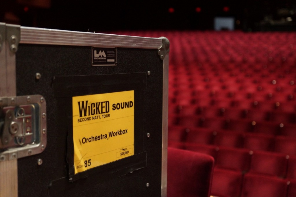 setting up for wicked the musical