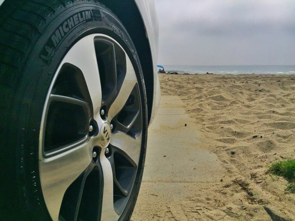 Kia optima and sand
