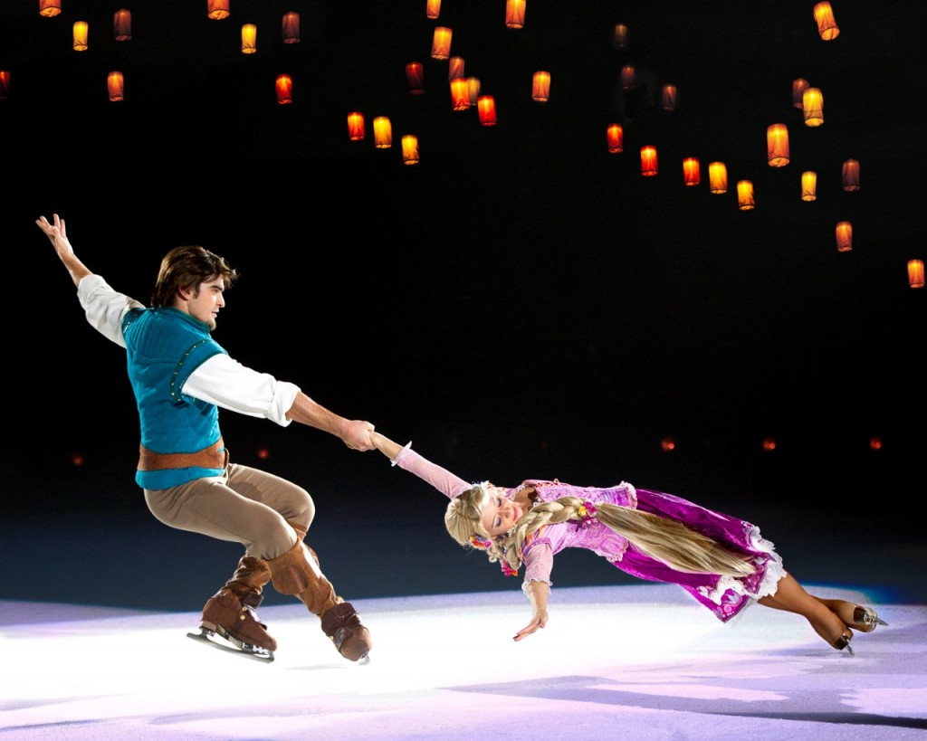 Rapunzel and Flynn in Disney on Ice