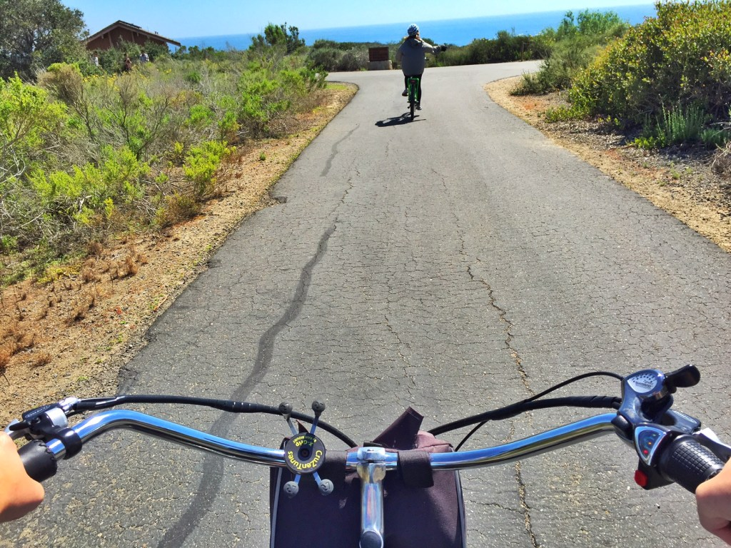 bike riding at crystal cove