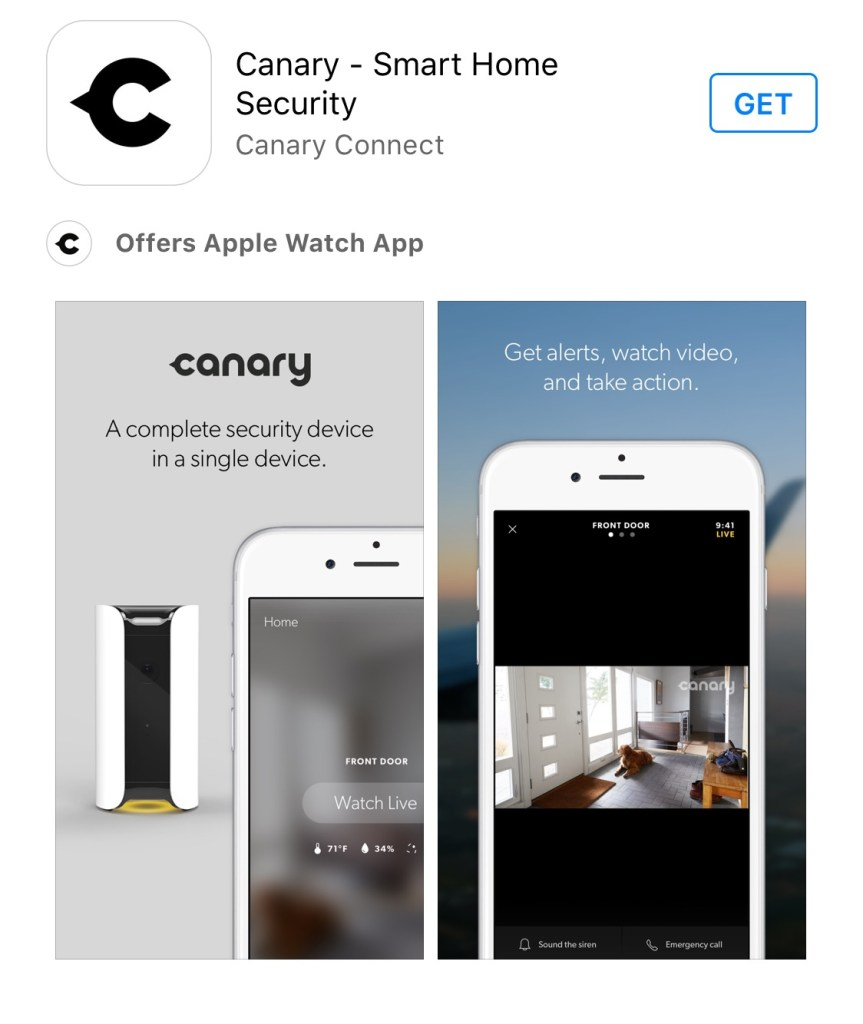 Canary Home Security App
