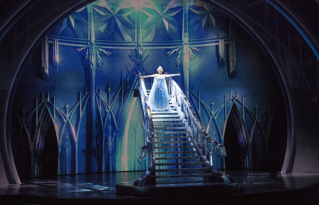 Elsa on staircase in Frozen Live at the Hyperion