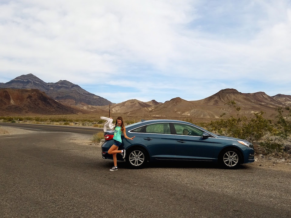 Hyundai Sonata in the desert