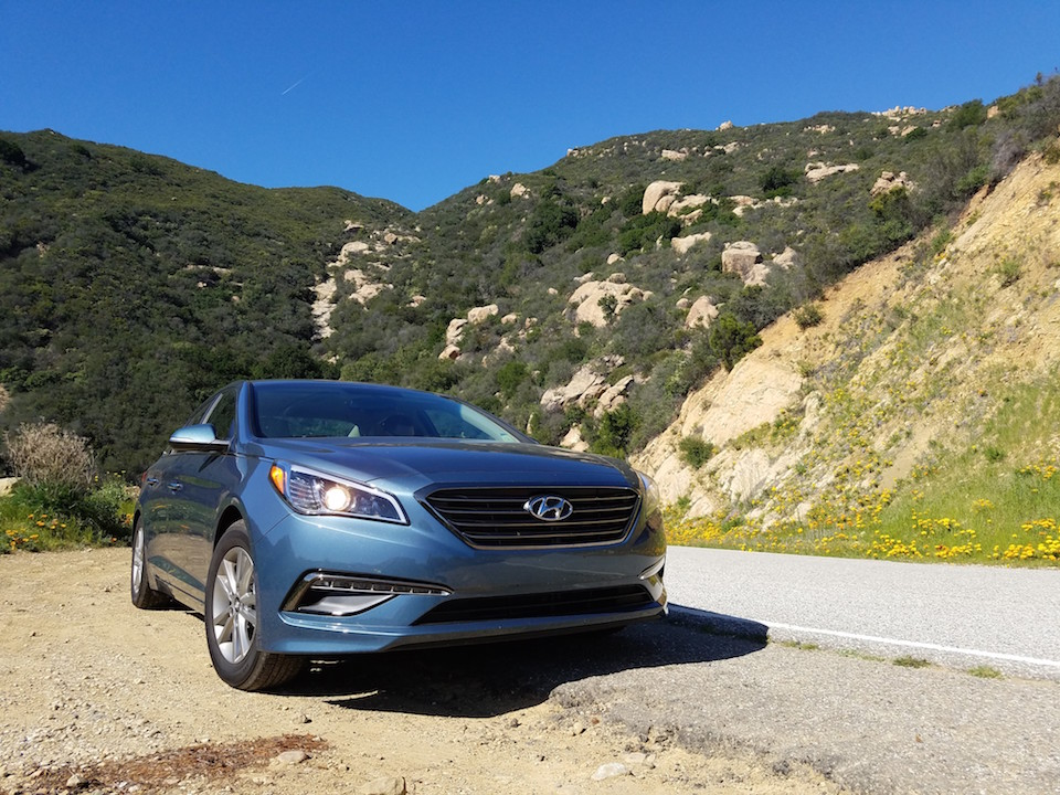 Hyundai Sonata in the mountains