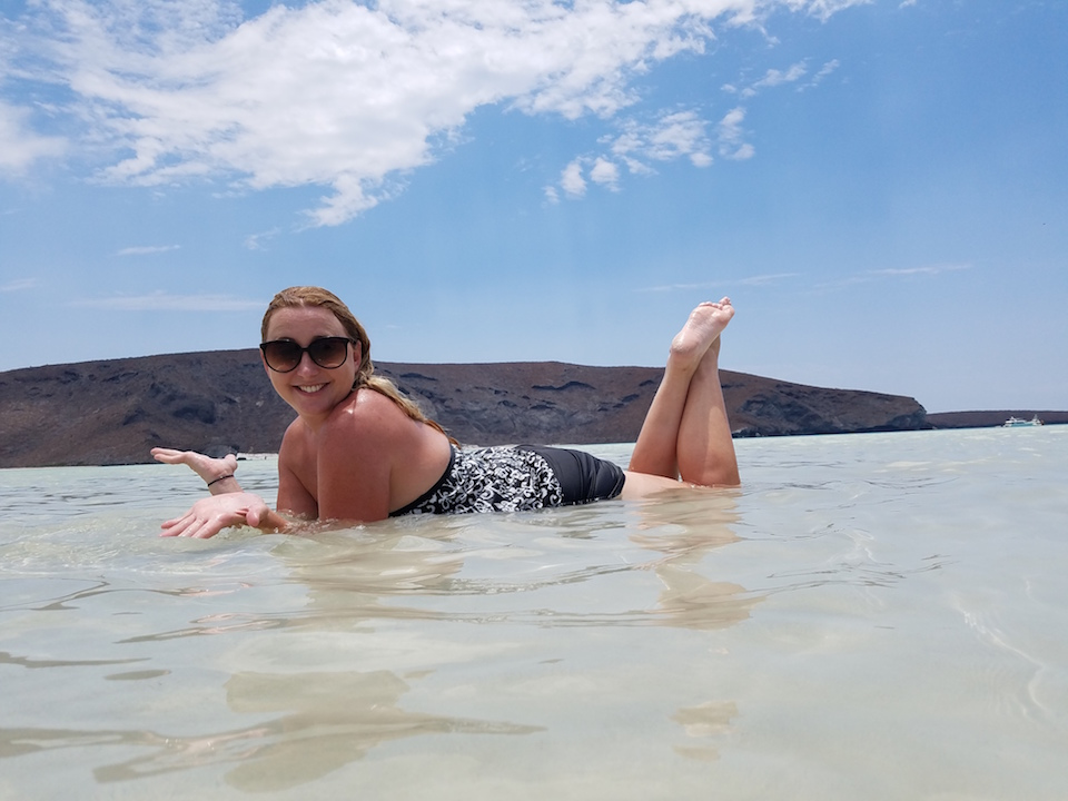 Shelby at Balandra Beach in La Paz
