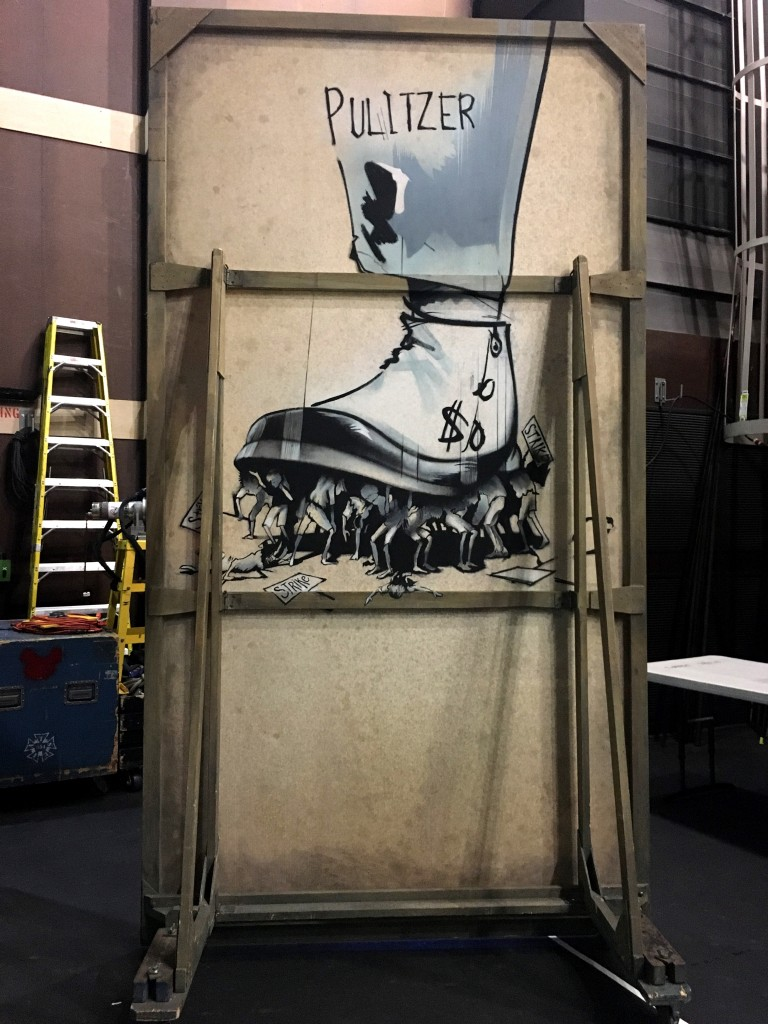 back stage artwork for newsies
