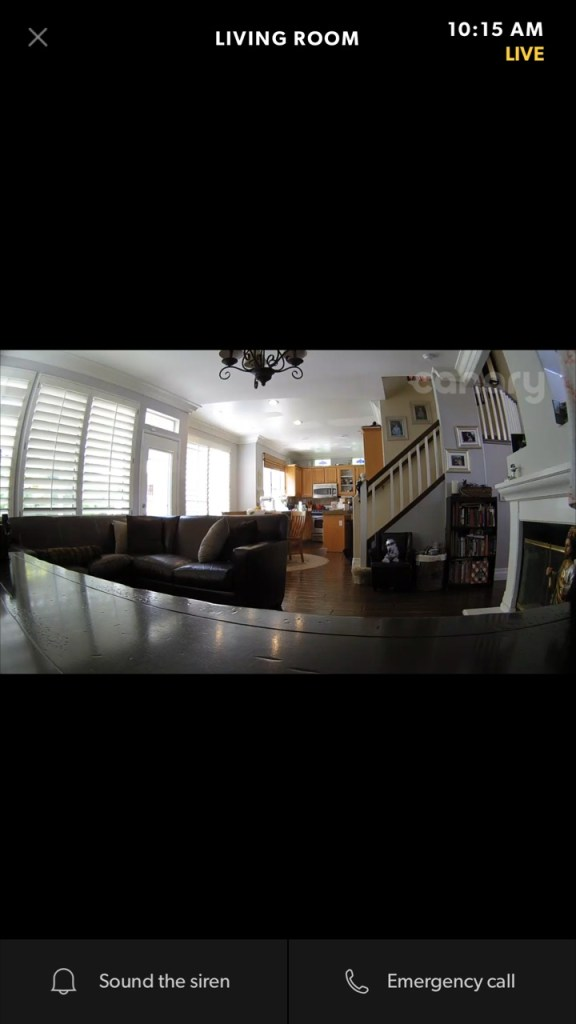 living room feed for Canary Home Security