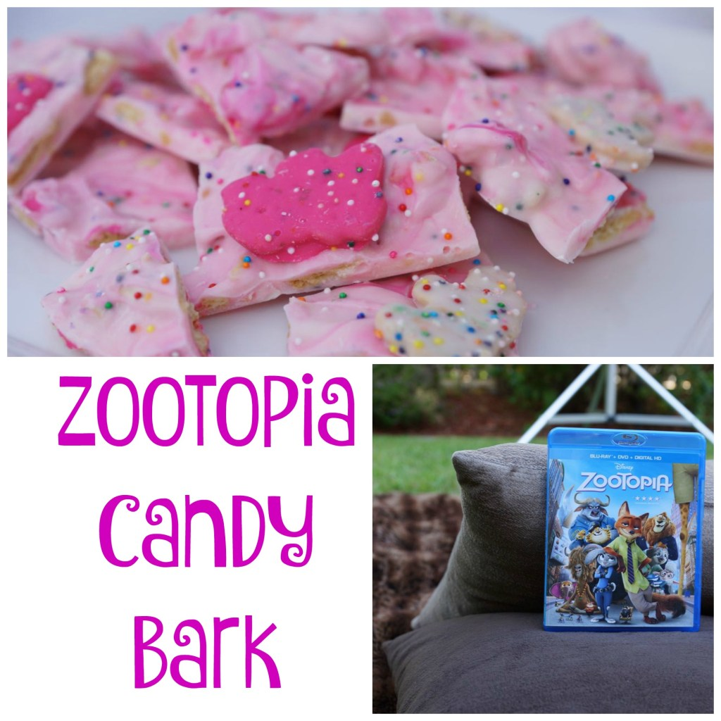 DIY Circus Animal Cookie Zootopia Candy Bark