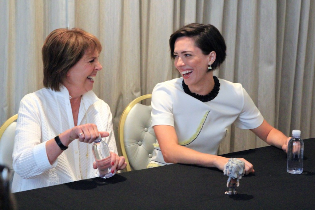 Rebecca Hall and Penelope Wilton in The BFG