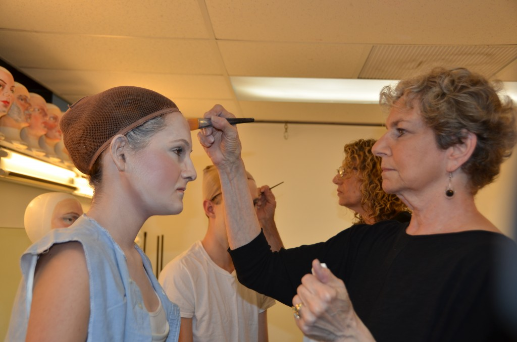 talented make-up artist in Pageant of the Masters