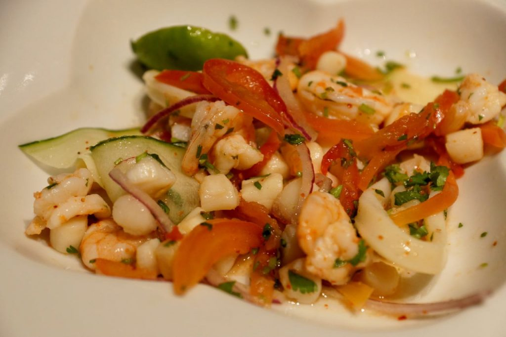 Ceviche at Las Casitas in Puerto Vallarta