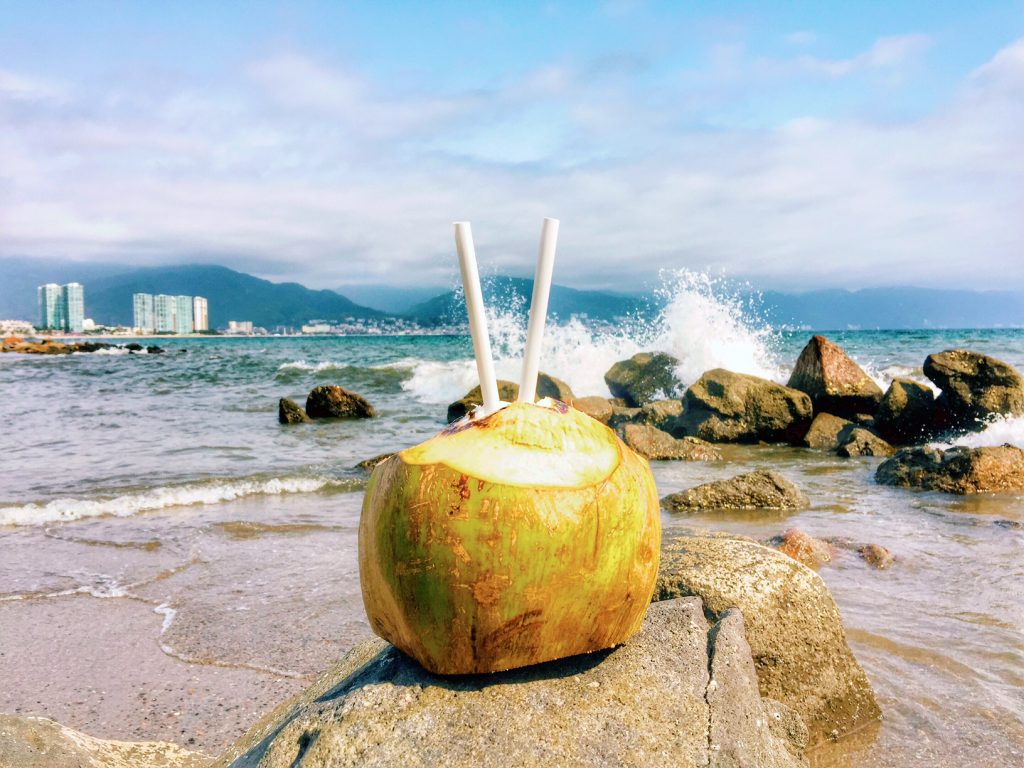 Coconut water in Puerto Vallarta