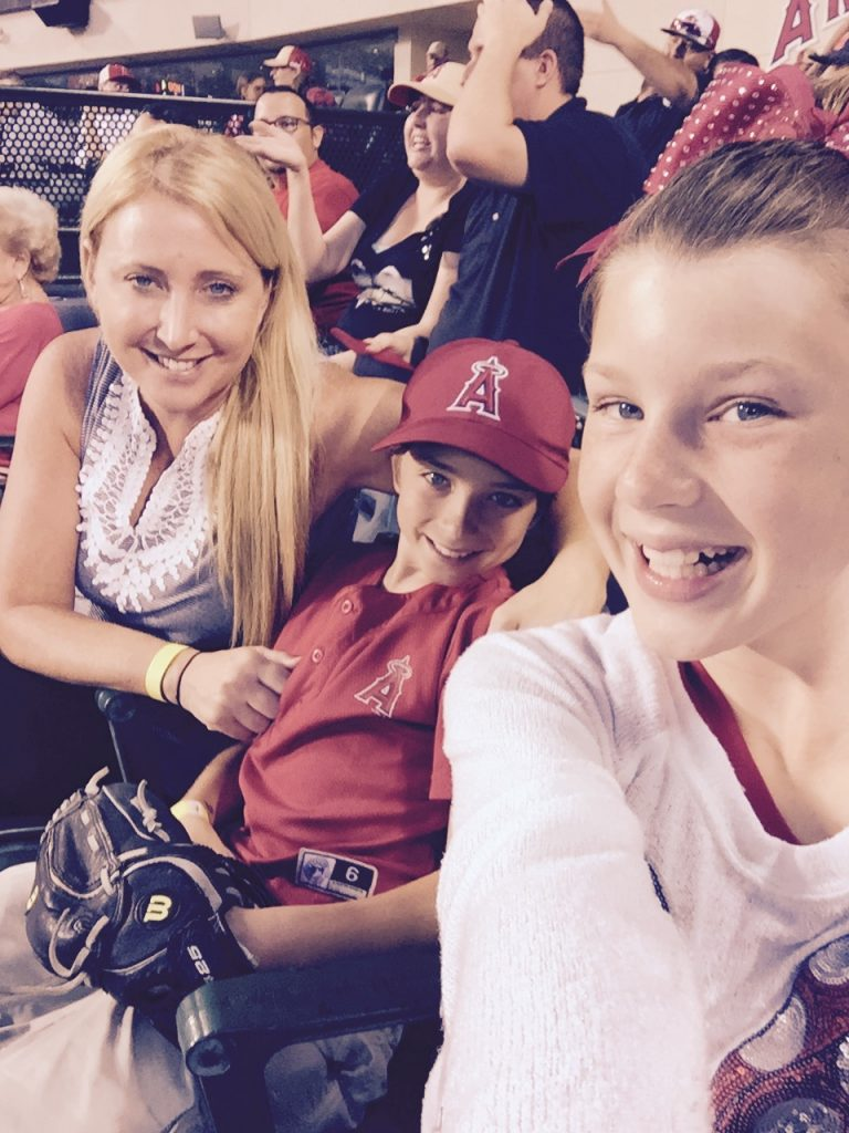Family time at Angel's Stadium