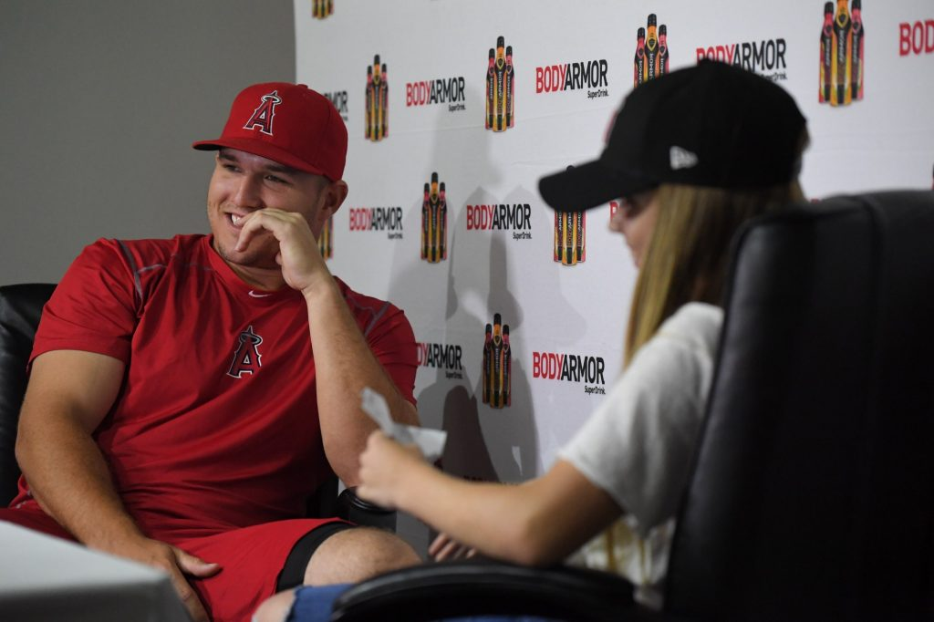 Kids interviewing Mike Trout