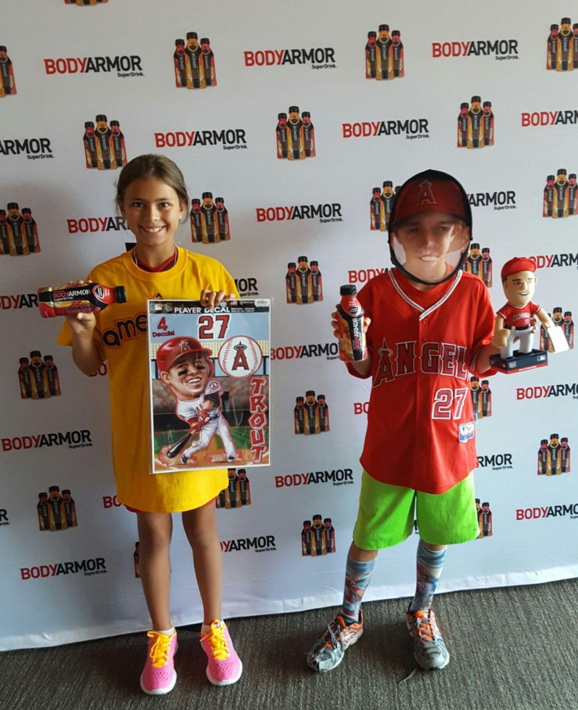 Kids love Body Armor and Mike Trout