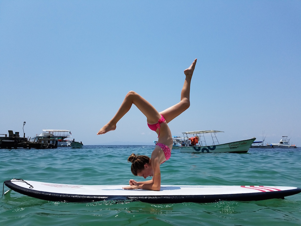Paddle board Yoga at Las Animas Beach in Puerto Vallarta