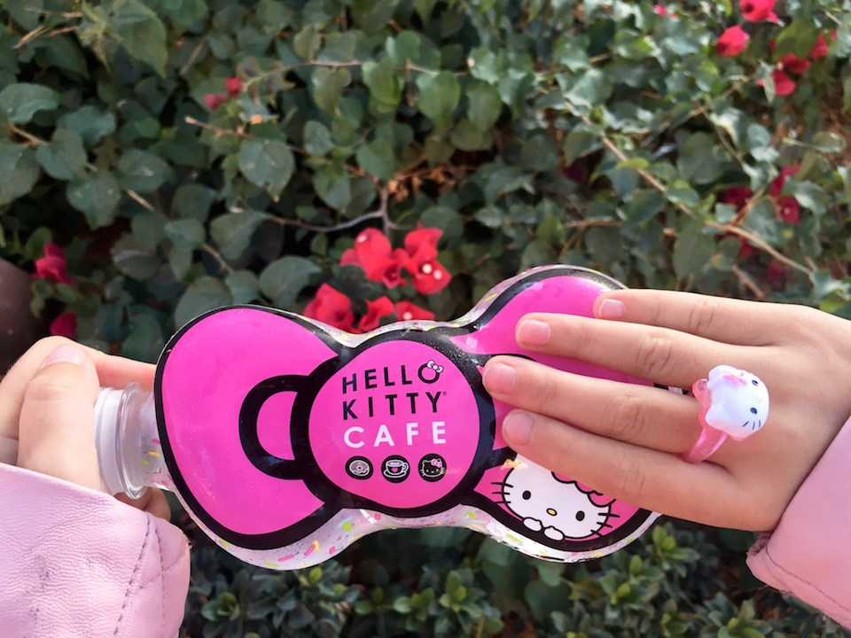 Water bottle from the Hello Kitty Cafe