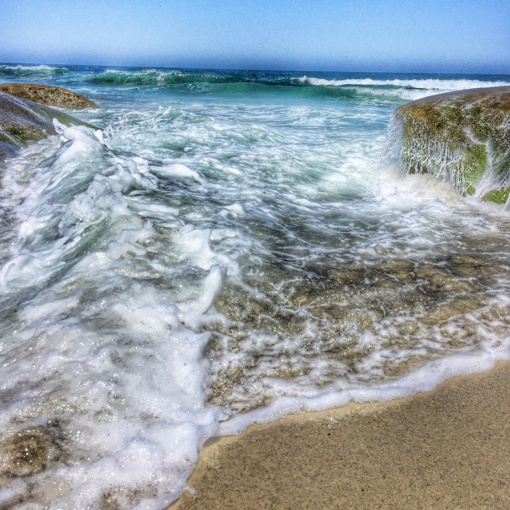 splashing in the waters in La Jolla