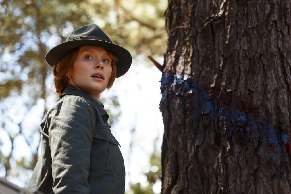 Bryce Dallas Howard is Grace in Disney's PETE'S DRAGON, the adventure of a boy named Pete and his best friend Elliot who just happens to be a dragon.