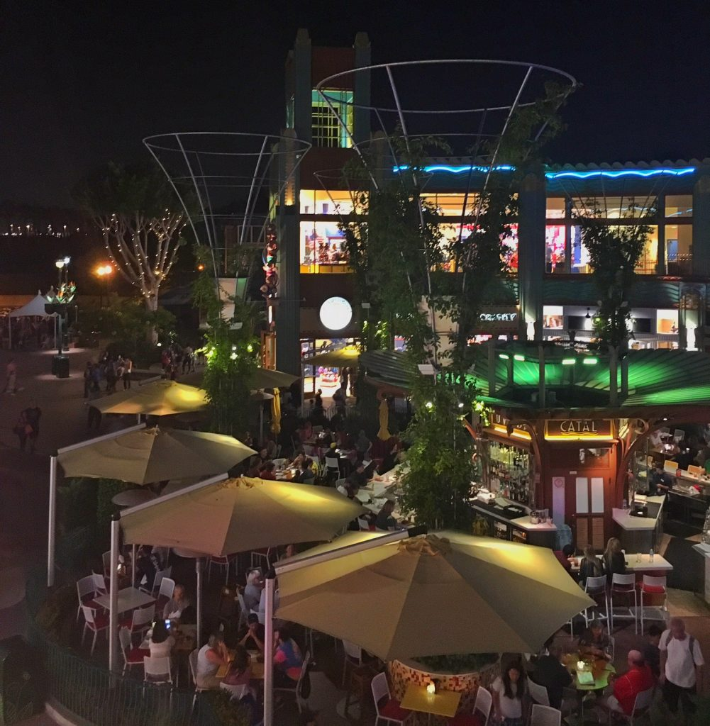 Downtown Disney at night
