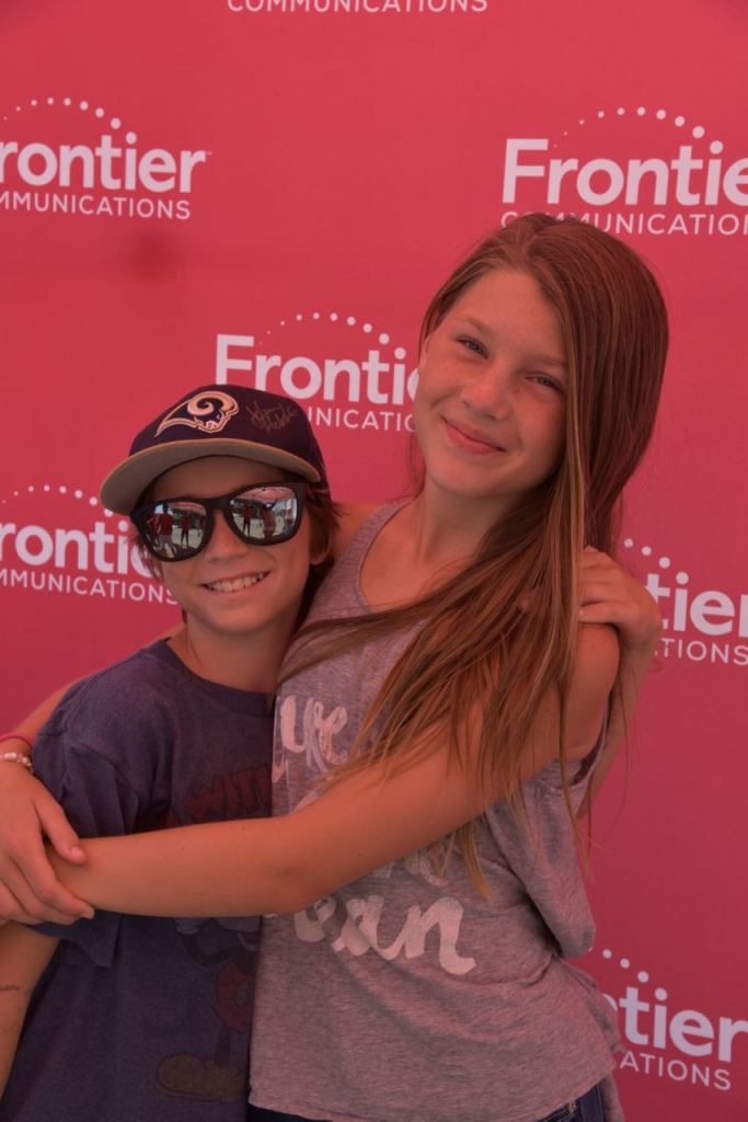Ella and Tyler at the Frontier Booth
